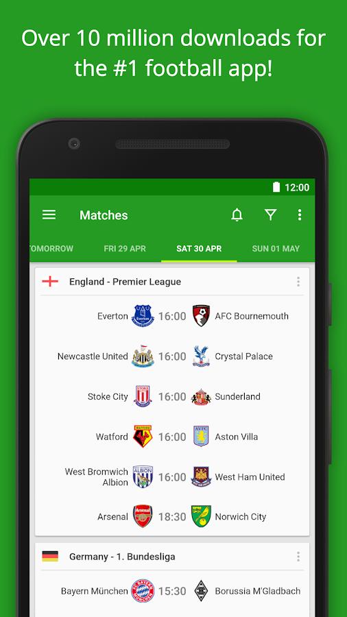 Screenshots of Soccer Scores - FotMob for iPhone