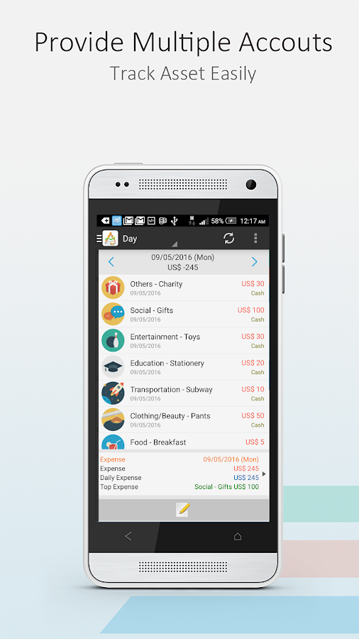 AndroMoney ( Expense Track )- screenshot