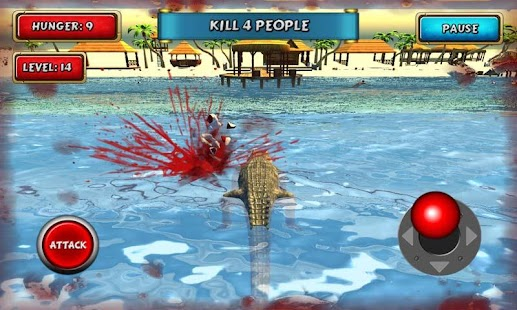 Crocodile Simulator Beach Hunt - náhled
