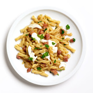 Pasta with Pancetta and Miso.