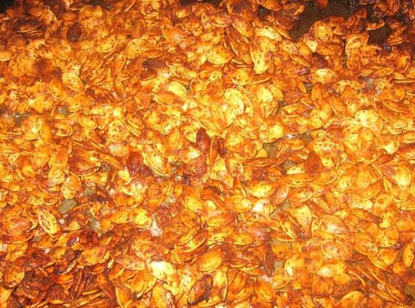 No Vampires Garlic Roasted Pumpkin Seeds Recipe