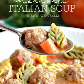 Meatballs Italian Soup