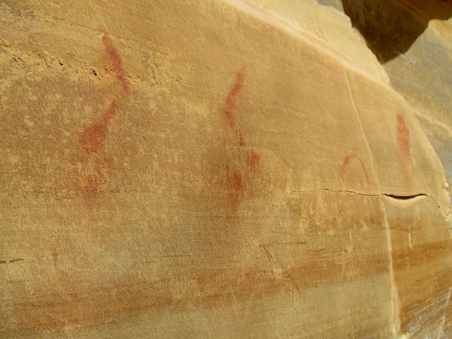 Fremont pictographs in the San Rafael Reef