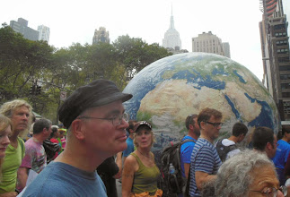 Photo: Seattle contingent with globe.
