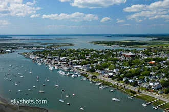 Photo: An aerial view of Beaufort, NC - Photo by Tom Stiles