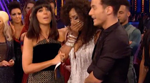 Alexandra Burke gets emotional on Strictly Come Dancing