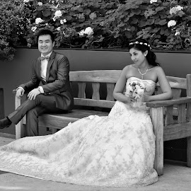 Wedding Day by Koh Chip Whye - Black & White Portraits & People