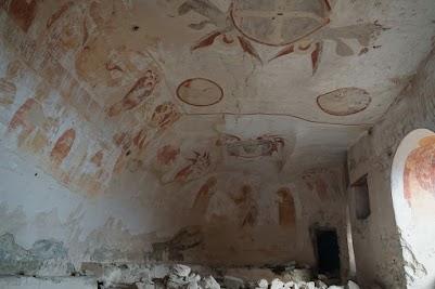 Die erhaltenen Fresken zeugen von der Kunstfertigkeit der Mönche.