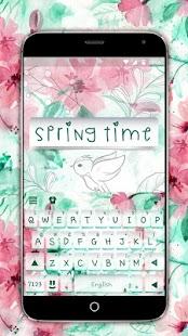 Springtime Flowers Keyboard Theme - náhled
