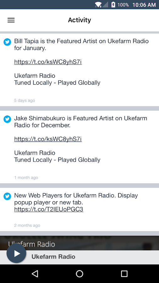 Ukefarm Radio- screenshot