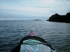 Photo: Rounding Lemesurier Point and entering Ernest Sound.