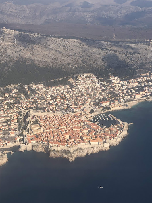 Dubrovnik from airplane