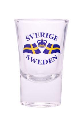 """Snapsglas """"Sverige, Sweden"""""""