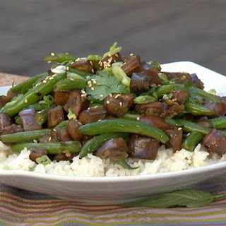 Extra Garlic Green Bean and Eggplant Stir-Fry Recipe