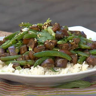 Extra Garlic Green Bean And Eggplant Stir-fry.