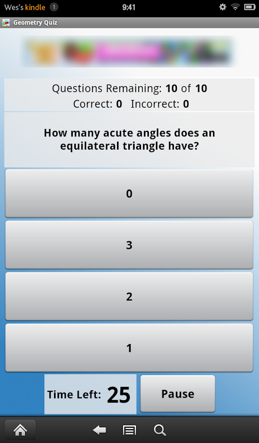 Geometry Quiz- screenshot