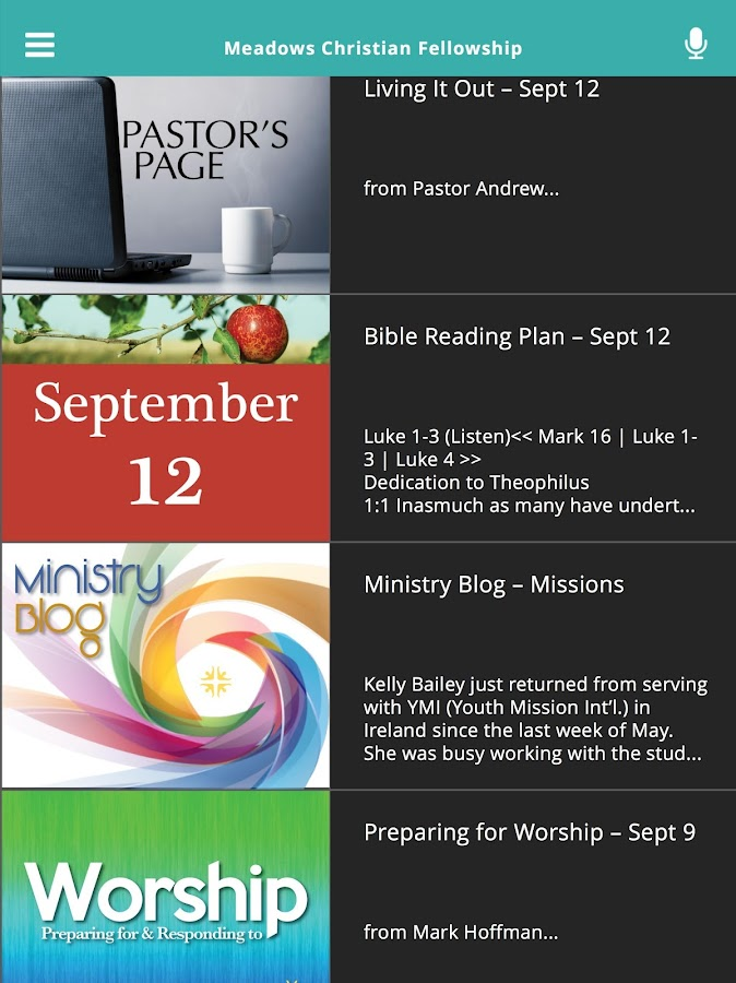 Meadows Christian Fellowship- screenshot