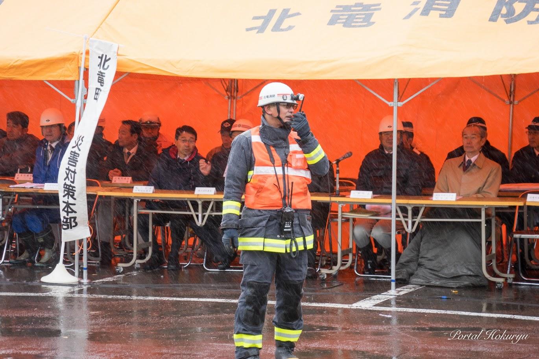 災害対策本部で指揮を執る北竜消防・滝本浩幸 支署長