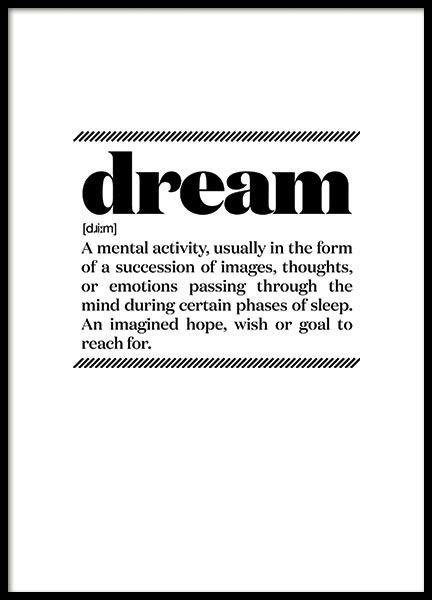 DREAM, POSTER