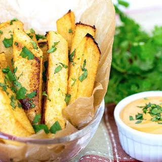 Cilantro-Lime Jicama Fries [Vegan]
