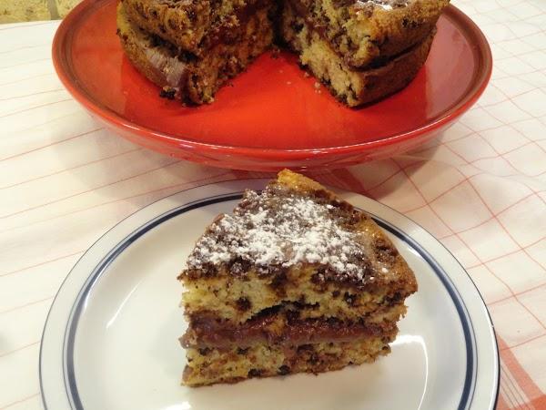 Cream Filled Chocolate Chip Crumb Cake Recipe