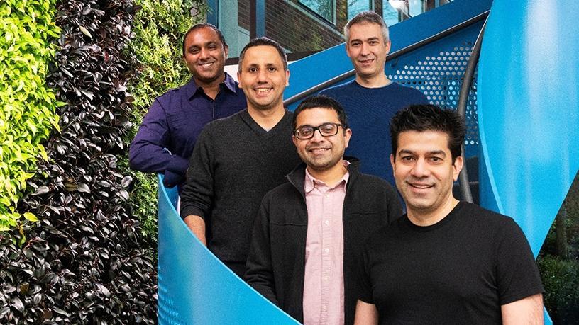From left: Sudhakar Sannakkayala, GM of Open Source Relational Databases, Microsoft; Ozgun Erdogan, CTO and co-founder, Citus Data; Umur Cubukcu, CEO and co-founder, Citus Data; Sumedh Pathak, VP of engineering and co-founder, Citus Data; and Rohan Kumar, corporate VP, Microsoft Azure Data.