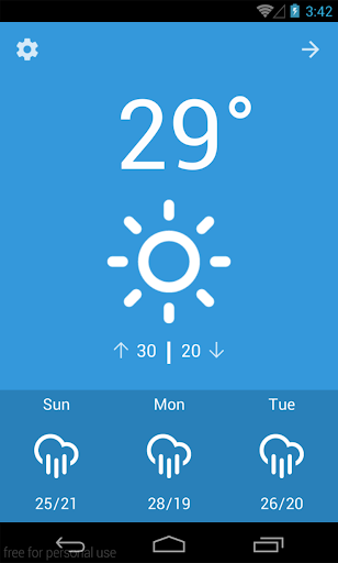 SkyWeather minimal weather app