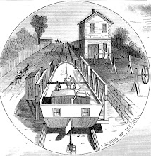 Photo: Illustration of Inclined Plane 11 East in Bloomfield from Scientific American, May 20, 1882. The house in the upper-left represents the Collins House, but is not an accurate depiction of the house's location. Personal collection of Richard Rockwell.