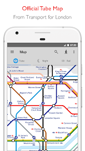 Tube Map - TfL London Underground route planner Screenshot