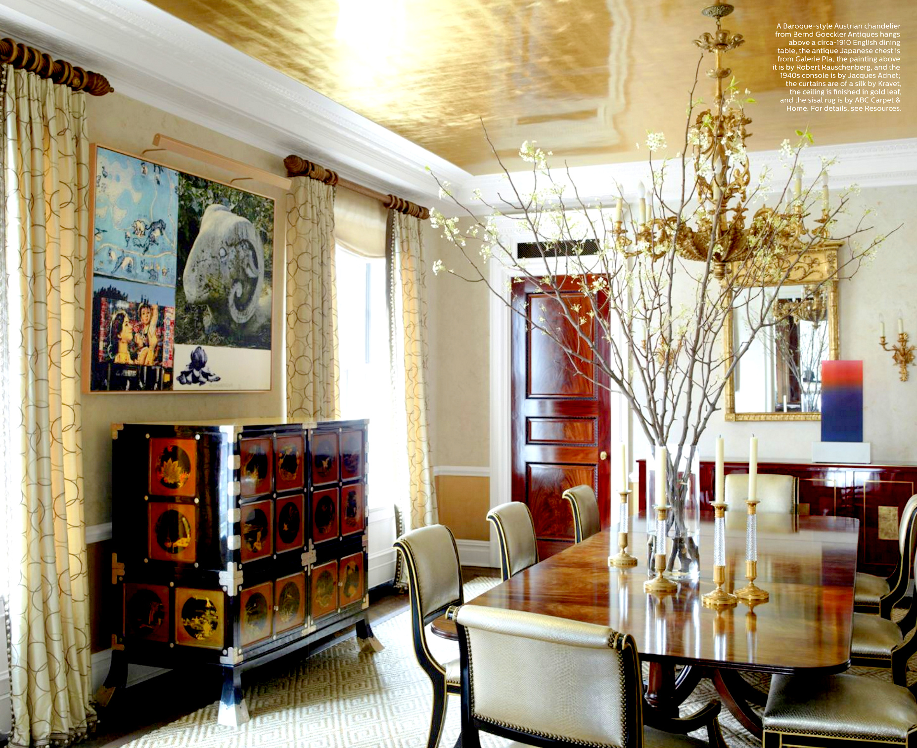 Ha ha hanging curtains interior design - Ceiling Treatments Are Trending Especially Those With Highly Glossed Paint Jobs