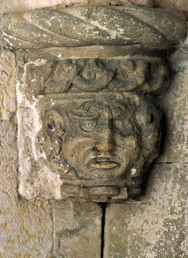 Corbel with a foliage mask