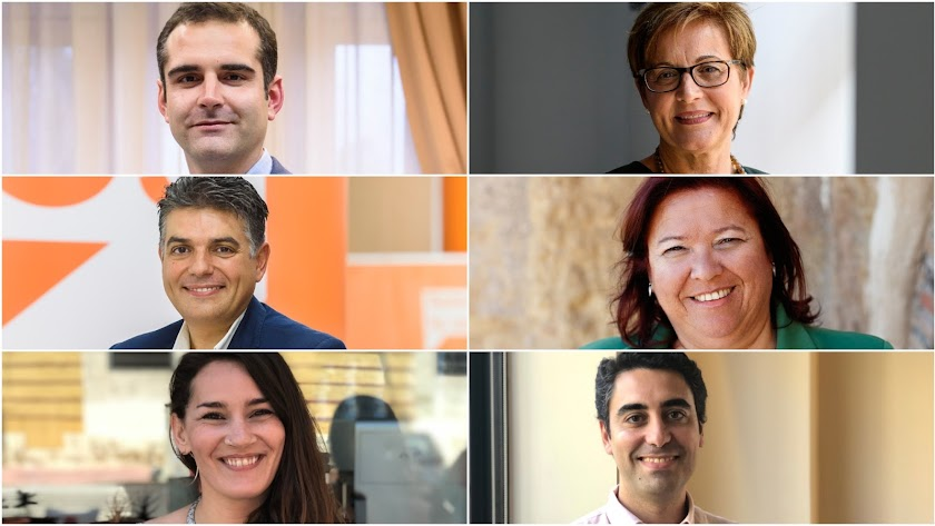 Ramón Fernández-Pacheco, Adriana Valverde, Miguel Cazorla, Amalia Román, Carmen Mateos y Joaquín Pérez de la Blanca.