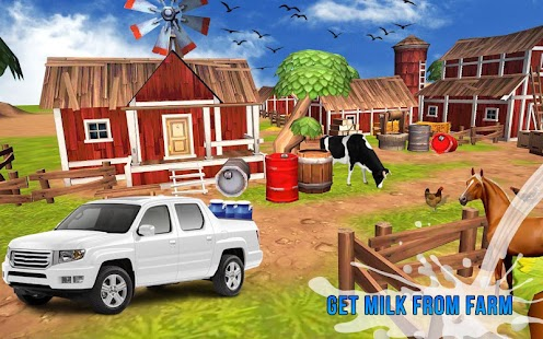 Milk Van Delivery 3D - Dairy Transport Truck sim- screenshot thumbnail