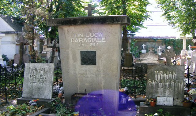 CARAGIALE TOMB AT BUCHAREST BELLU CEMETERY