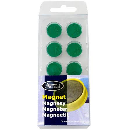 Magnet rund 16mm grön 10/fp