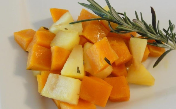 Roasted Sweet Potatoes And Apples With Rosemary Recipe