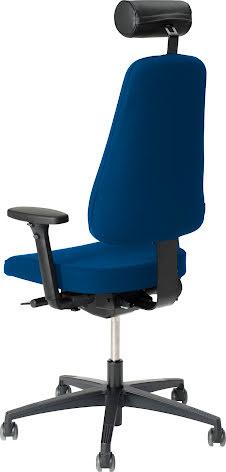 Stol Lanab 6340 inkl.hjul blå