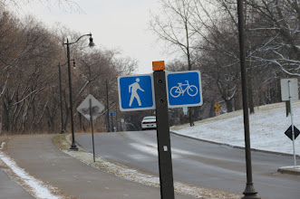 Photo: Separate but equal bike and ped paths