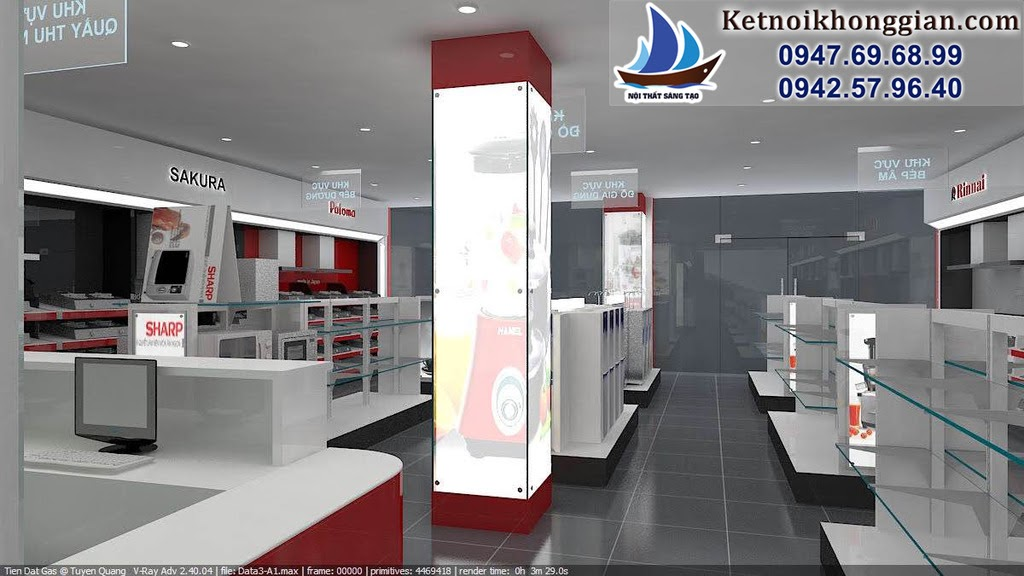 thiết kế cửa hàng thiết bị nhà bếp đẳng cấp chất lượng cao