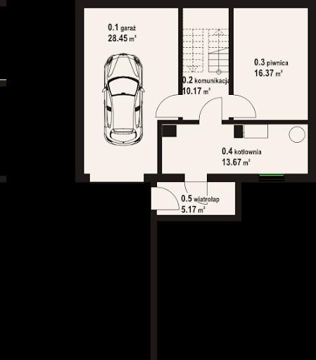 Jurgów 9 dw - Rzut piwnicy