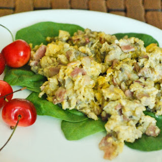 Bacon Banana Scrambled Eggs