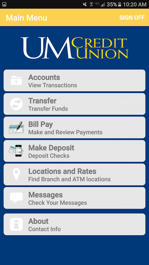 UMCU Mobile Banking- screenshot