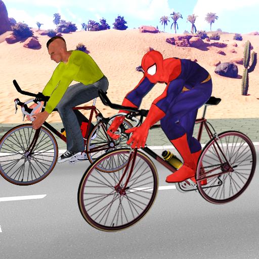 Superhero City Cycle Racing - Bicycle Riding