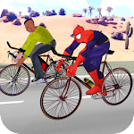 Superhero City Cycle Racing - Bicycle Riding