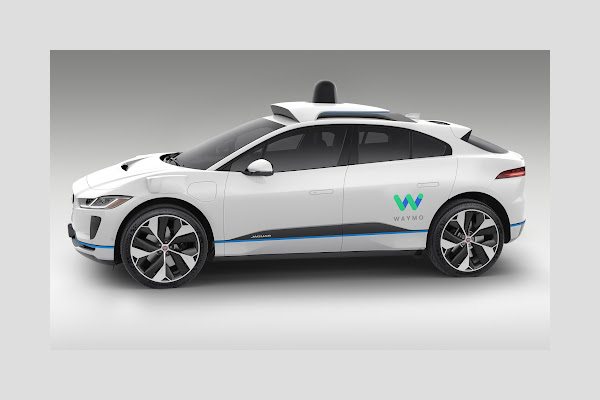 Waymo's autonomously driven Jaguar I-PACE electric SUV 2 (Side)