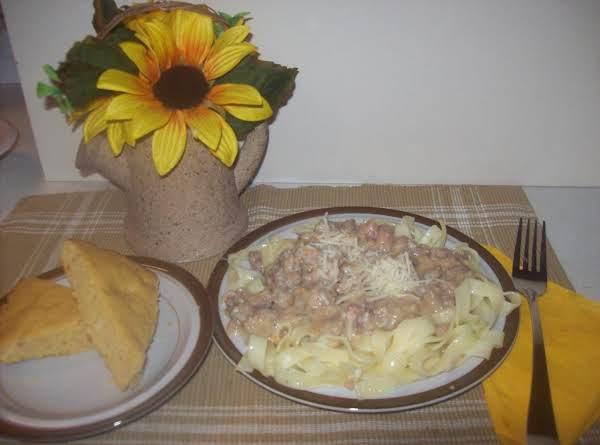 Crock -pot Sweet Potato Bolognese & Linguine With