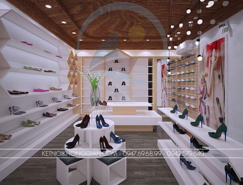 thiết kế shop giày dép đẹp thái nguyên