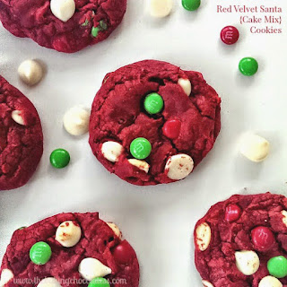 Red Velvet Santa {Cake Mix} Cookies!