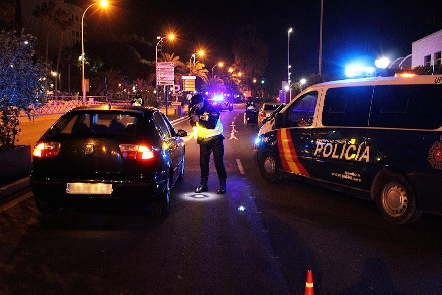 Controles de la Policía Nacional en la Vía Parque.