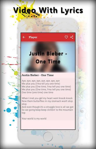 Lyrics for justin bieber 1.1 screenshots 4